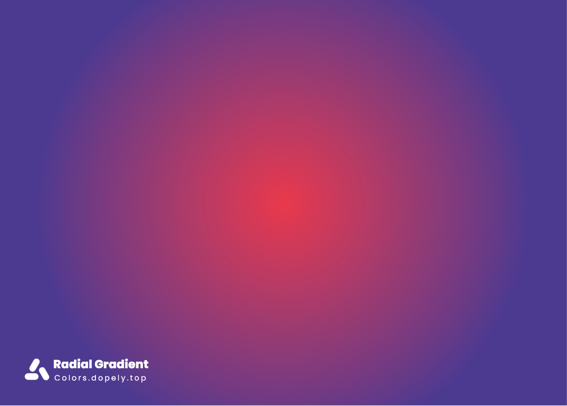 Radial color gradients of blue and red