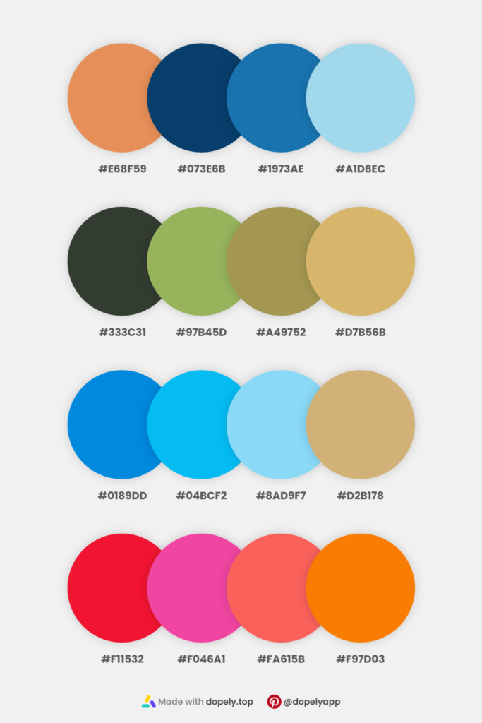 16 colors in 4 color schemes