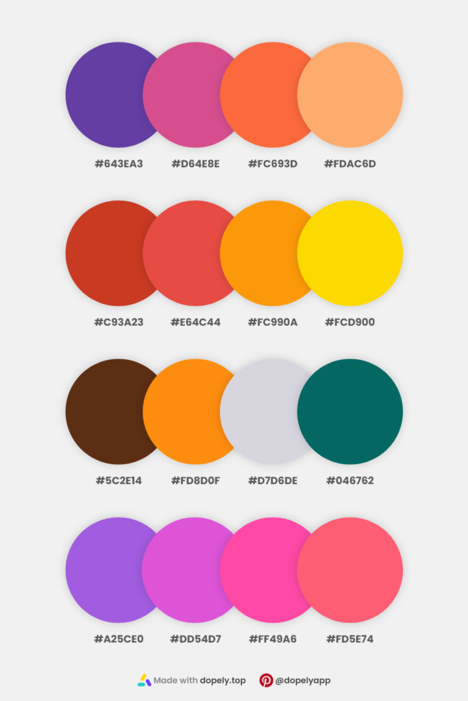 colors in 4 color schemes inspiration