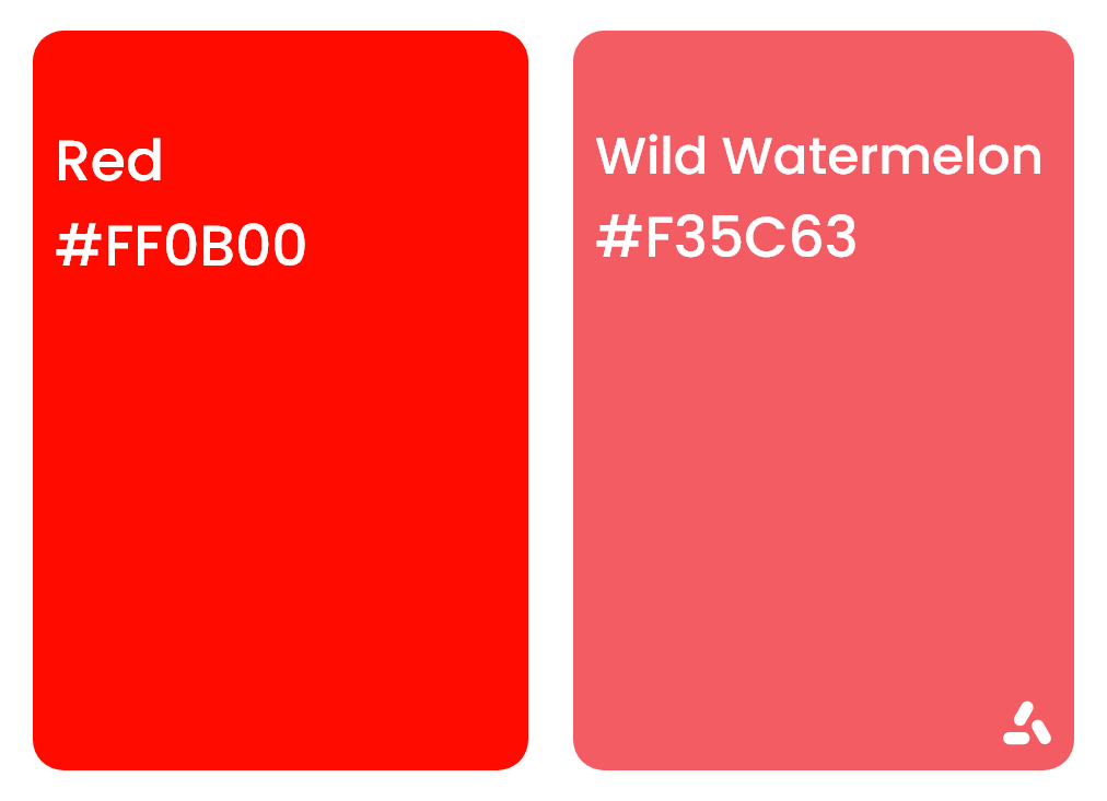 Red and wild watermelon color pair