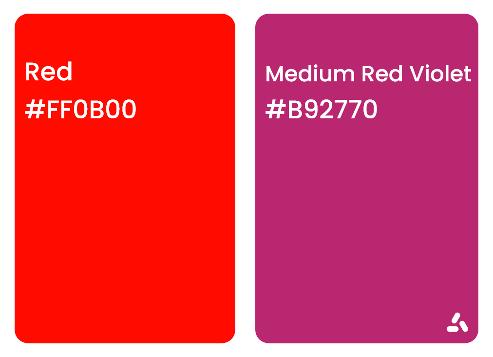 Red and Medium Red Violet Sharp color combination