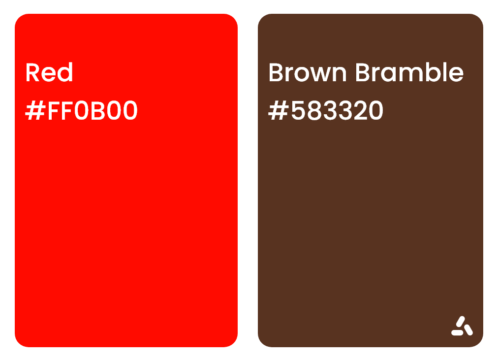 Red and Brown Bramble Color pair