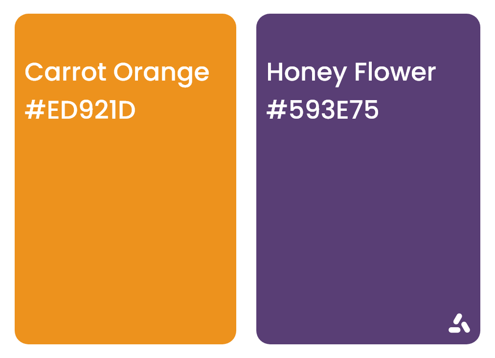 Carrot Orange and Honey Flower color combination idea