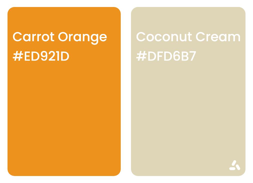 Carrot Orange and Coconut Cream color pair idea