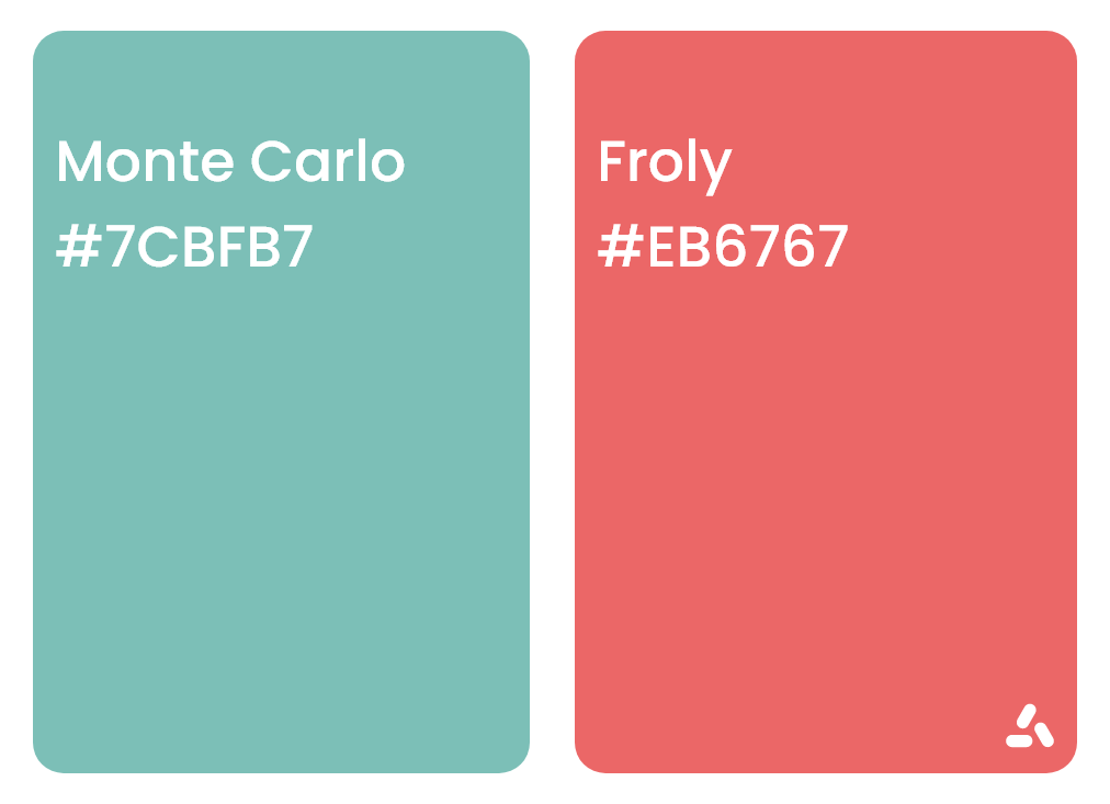 Monte Carlo turquoise and flory pink with jex codes