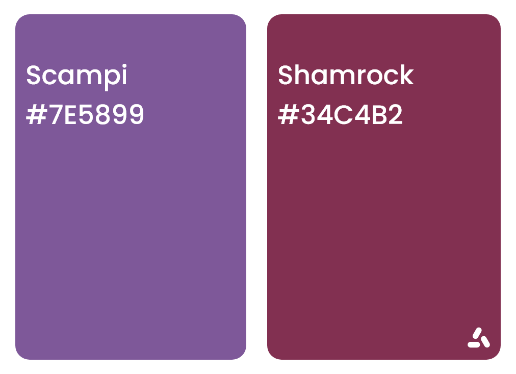 Scampi purple pairs with Shamrock