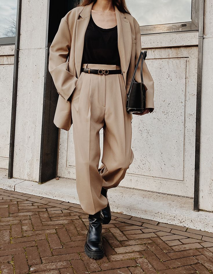 beige color outfit