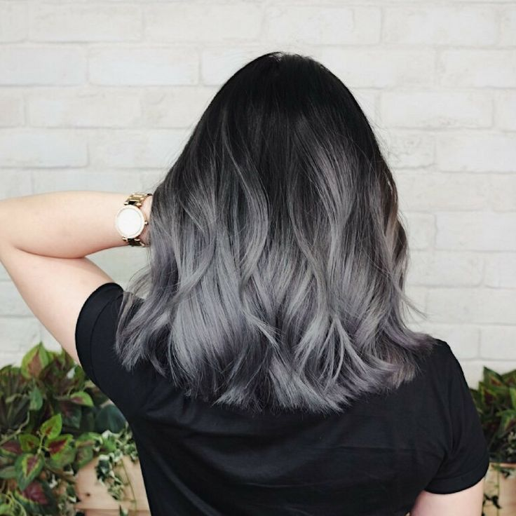girl with gray hair color