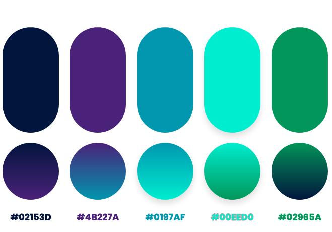 turquoise color palette