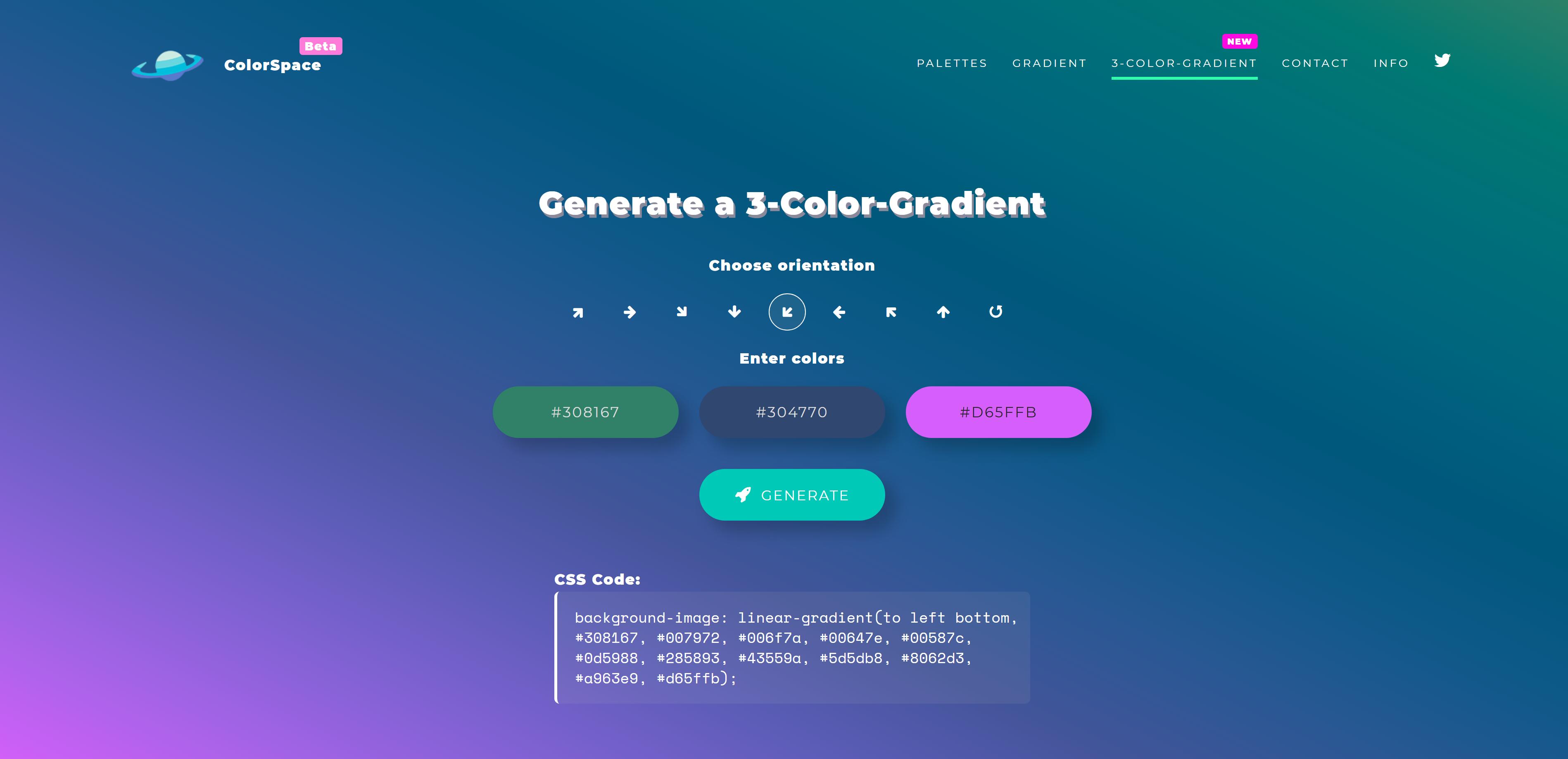 Learn UI design Free Gradient Generator Tool
