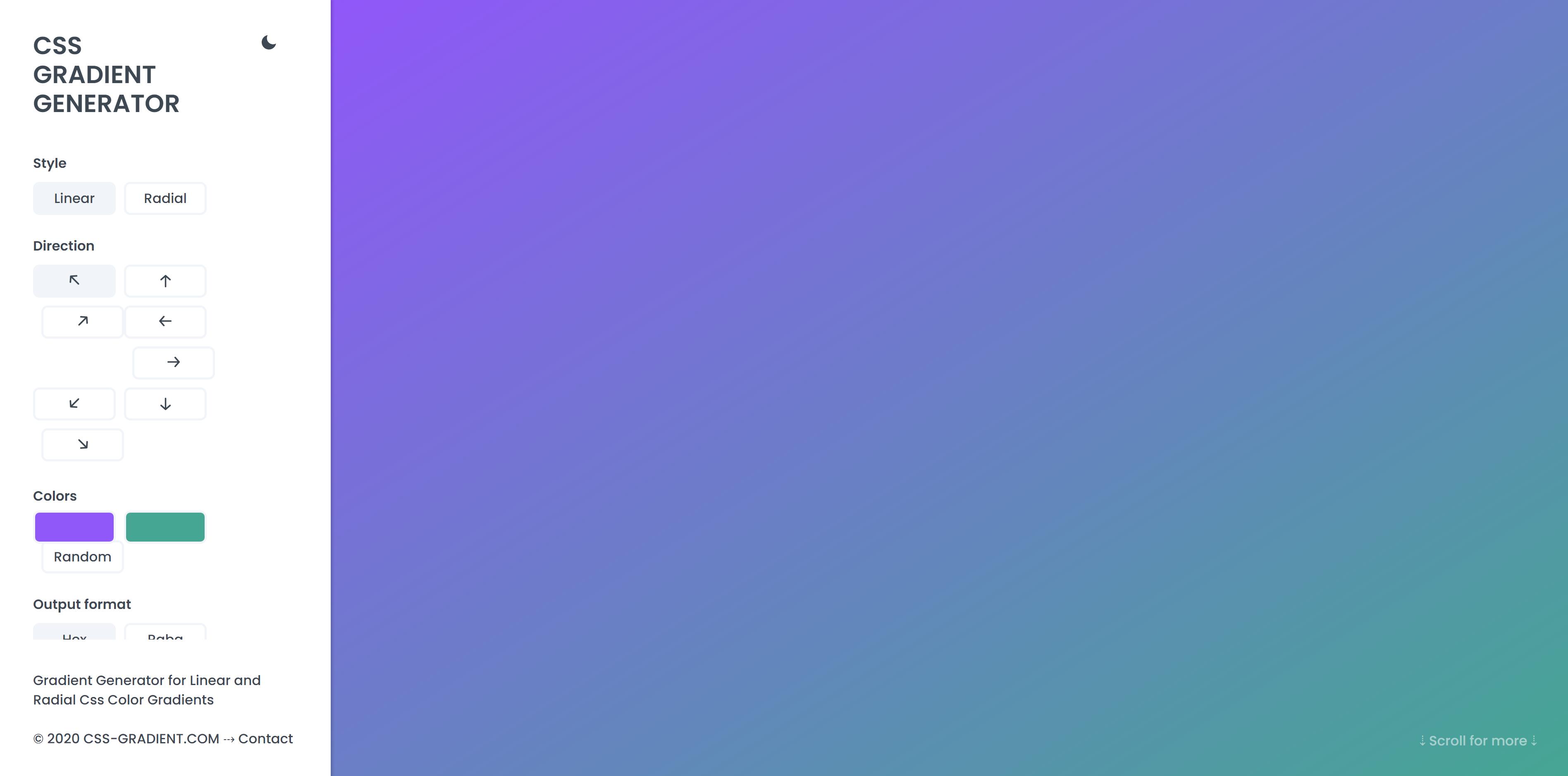 My Color Space Free Gradient Generator Tool
