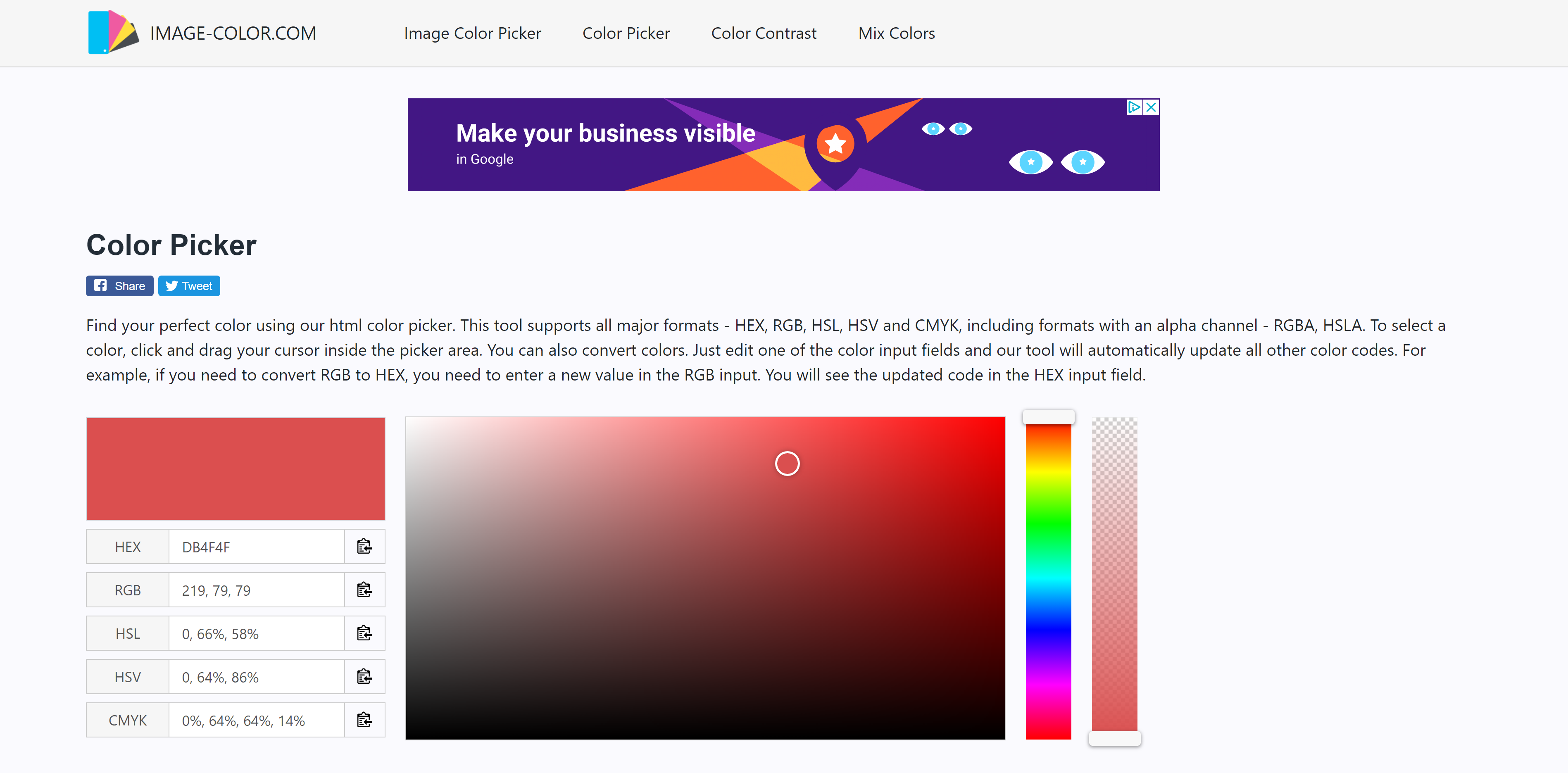 Image Color Online Color Converter Tool