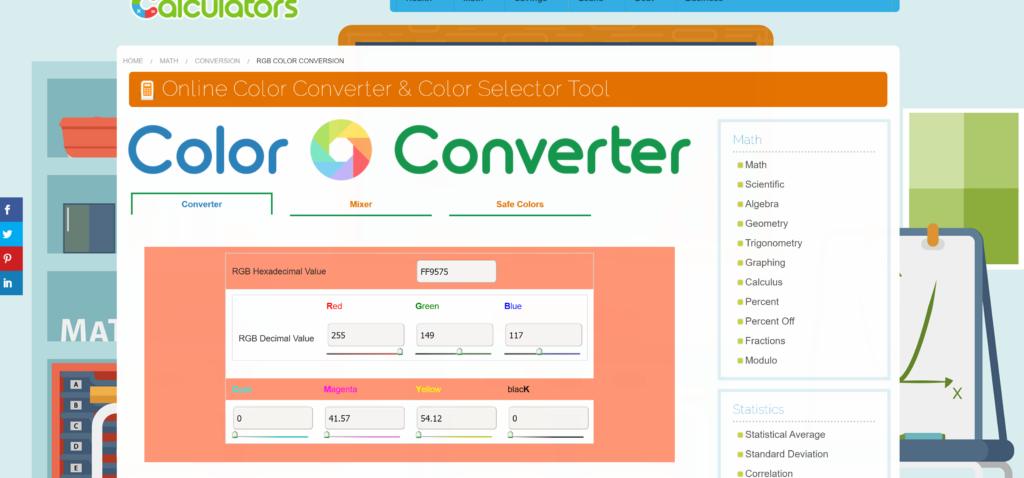 Calculators Online Color Converter Tool