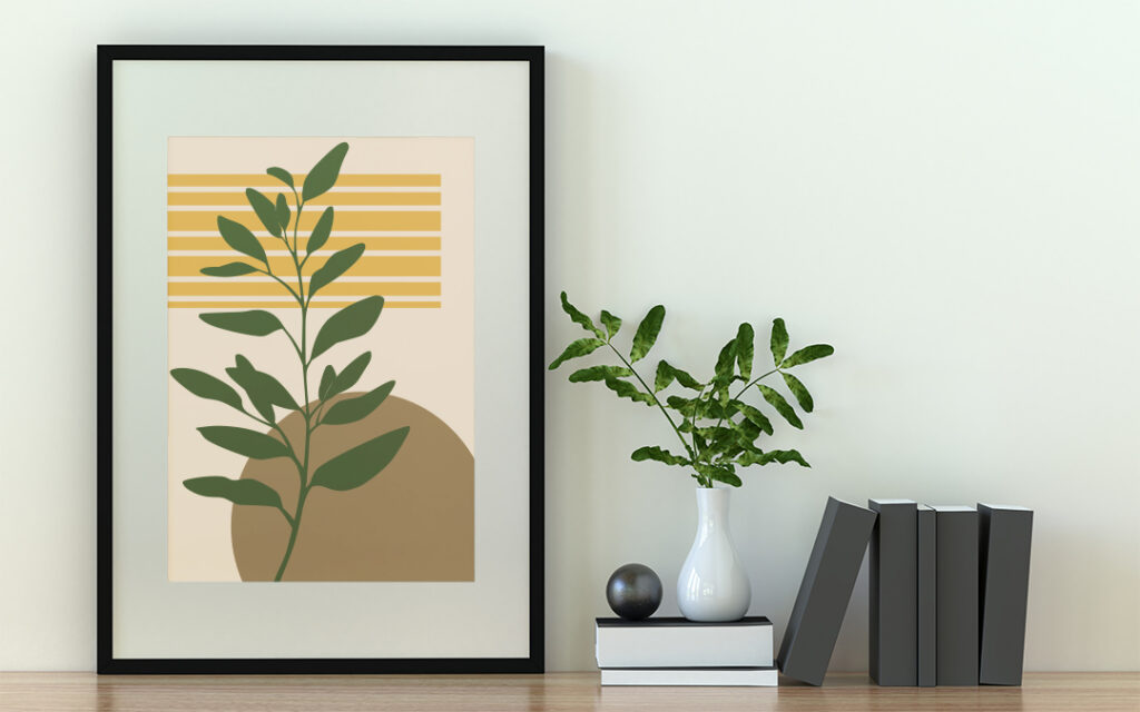 growing abstract poster in boho style