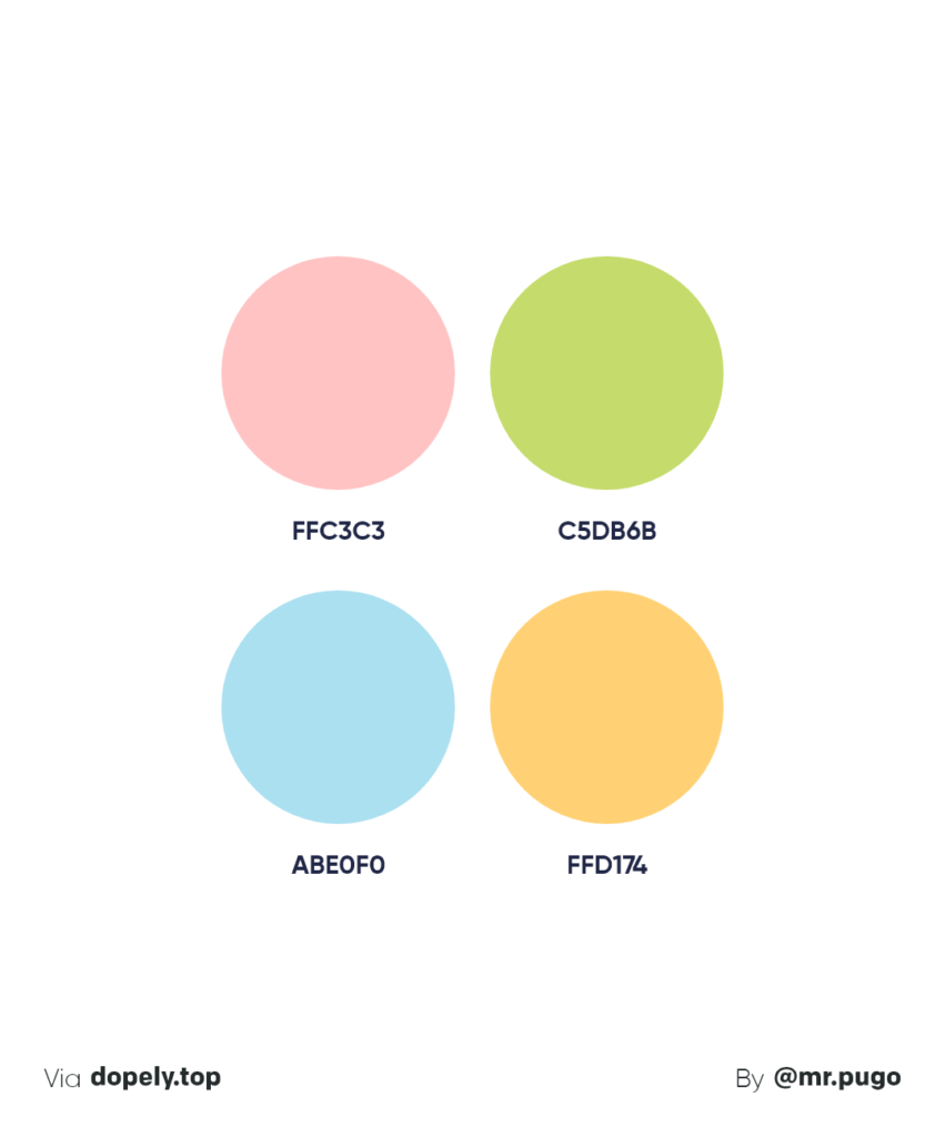 pastel summer color palette