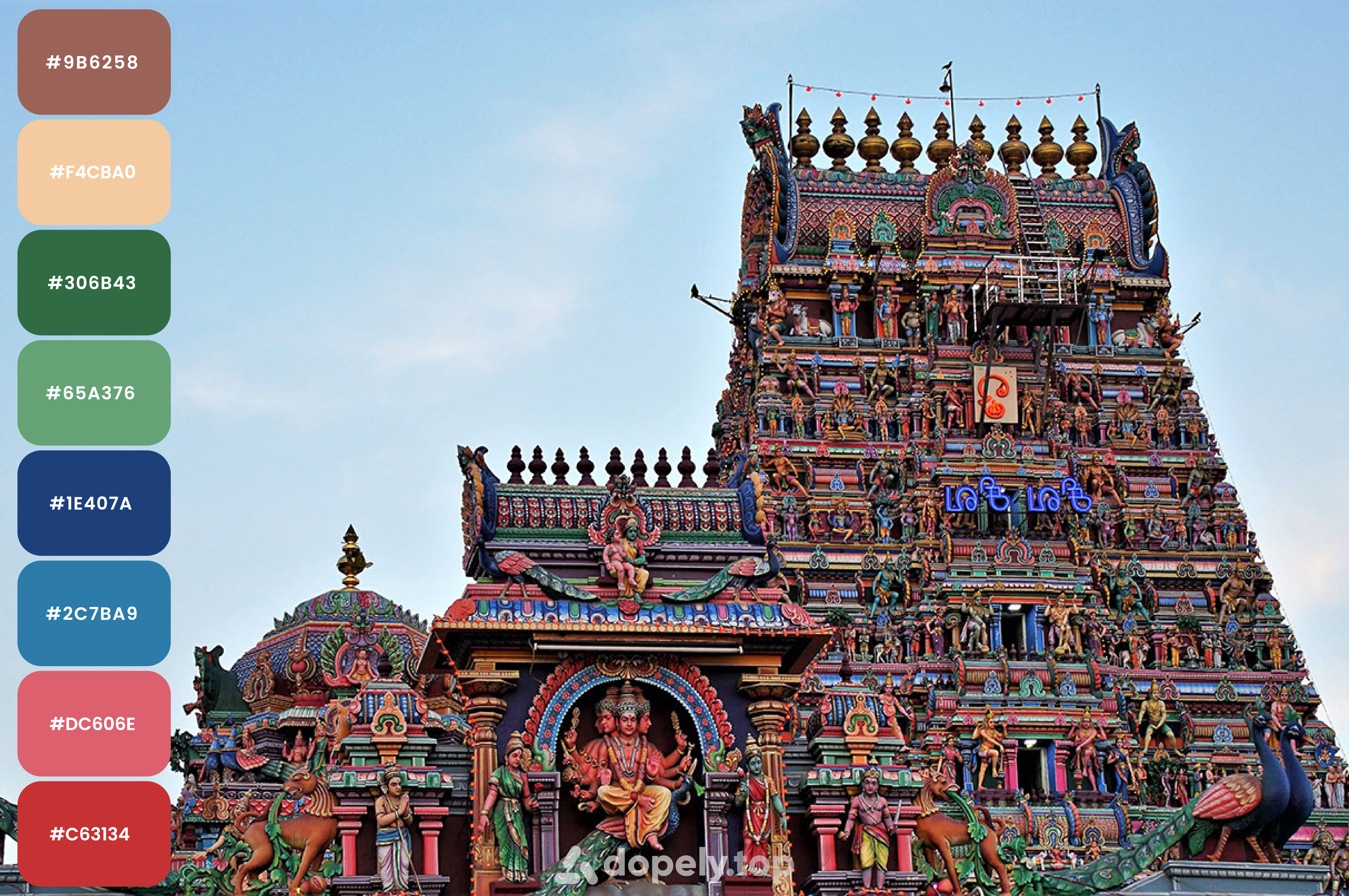 Chennai one of the colorful cities in India color palette by Dopely