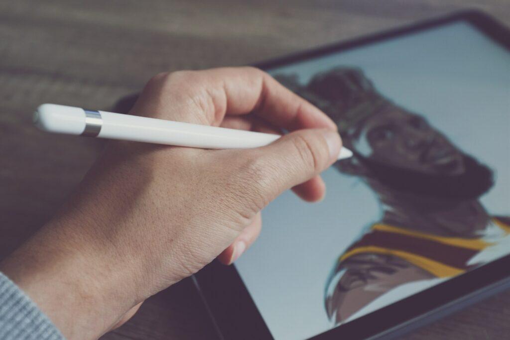digital art with tablet