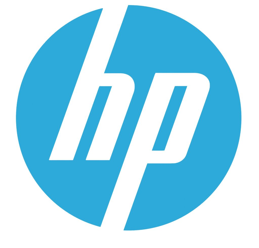hp that have a blue logo