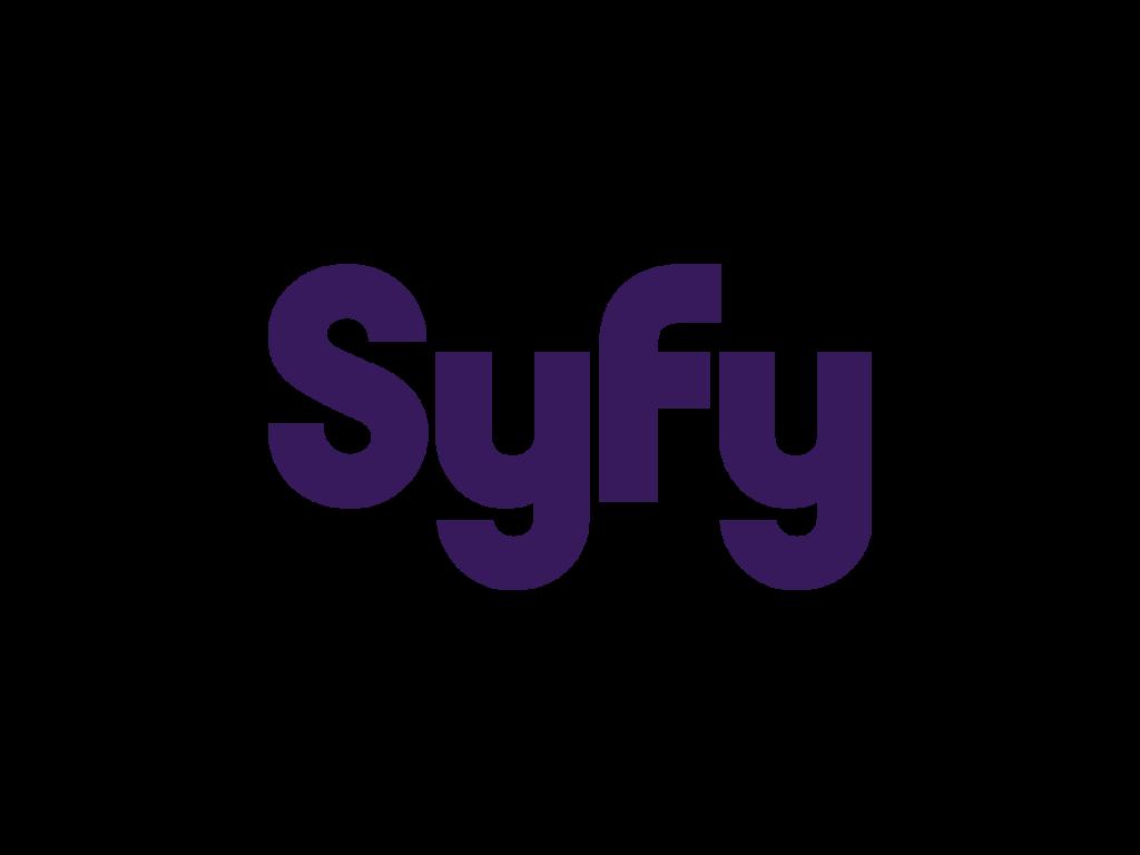 Syfy that have a purple logo