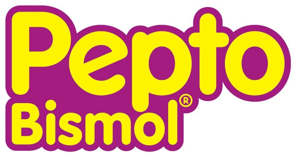 Pepto Bismol that have a pink logo