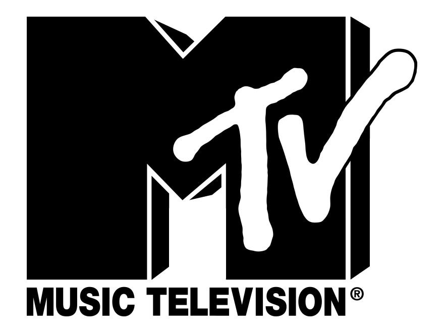 music television that have a white logo
