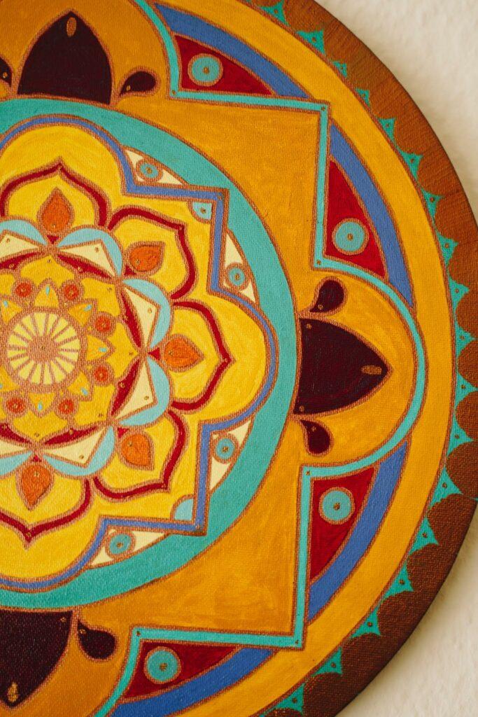 a painted mandala
