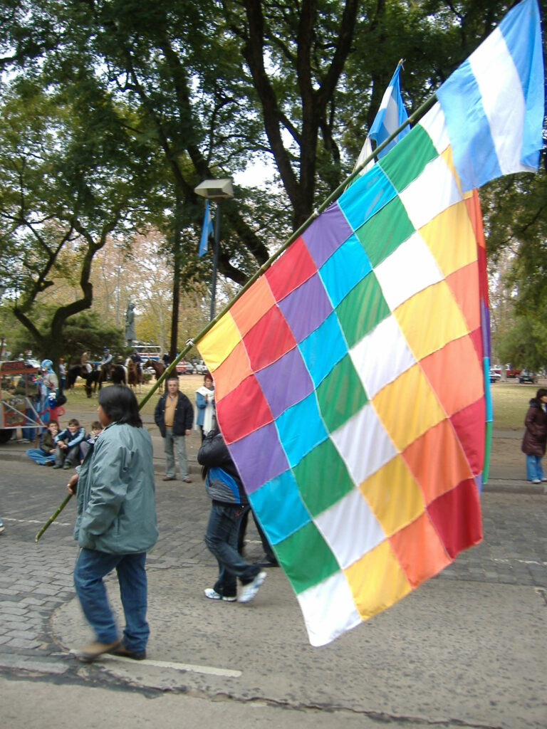 the rainbow flag in South America