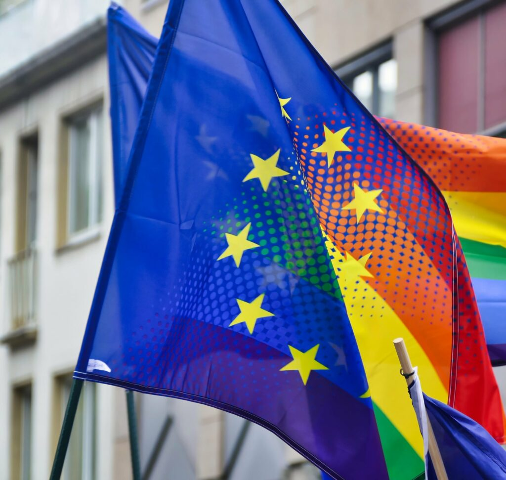 the flag of Europe