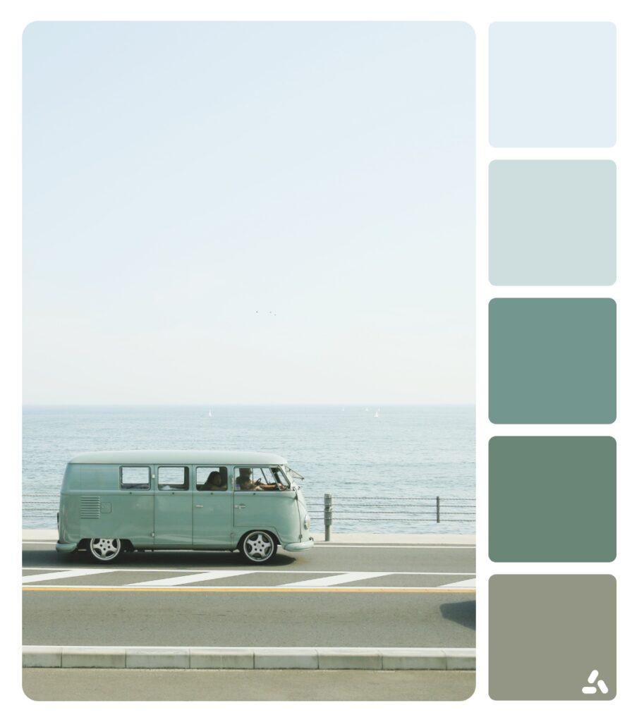 a van travel in summer
