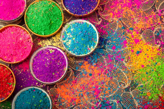 color powder, history of colors