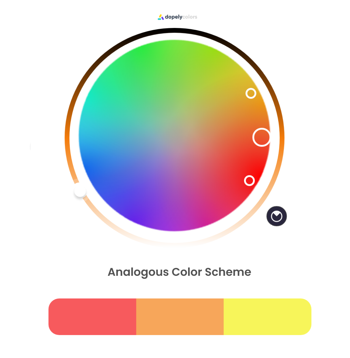 analogous color scheme (red, orange and yellow) sits near each other on color wheel, it is widely use in nature and has harmony.