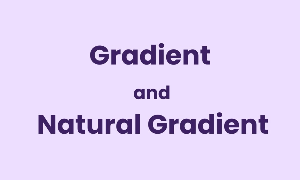 Gradient and Natural Gradient