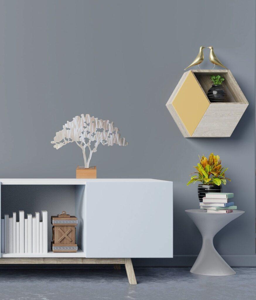 metallic walls