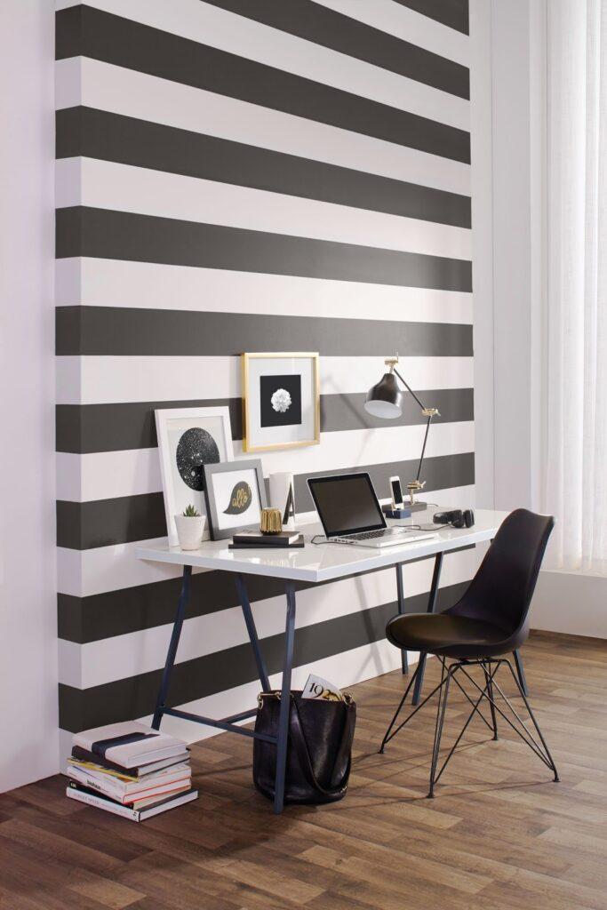 Striped wall panting