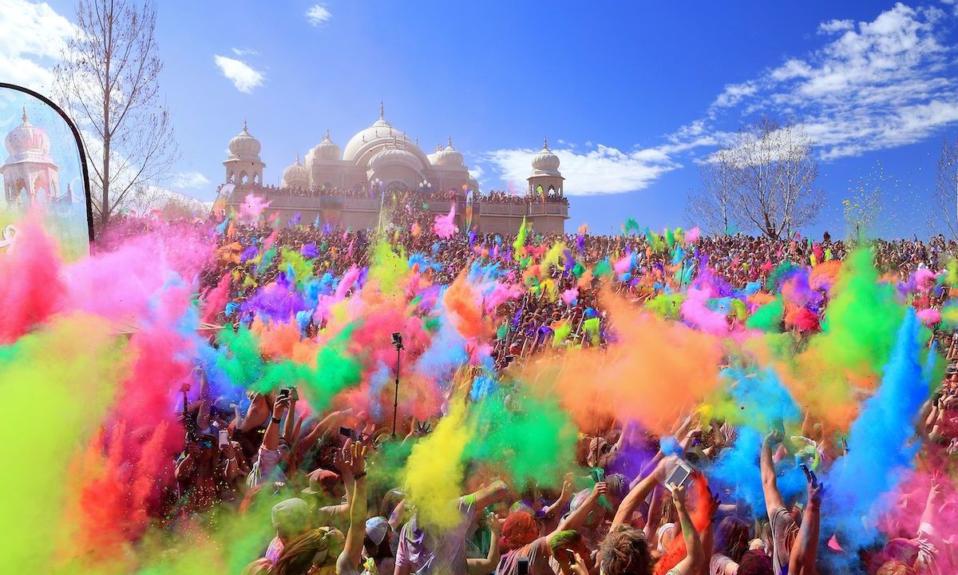 the Holi color festival in India