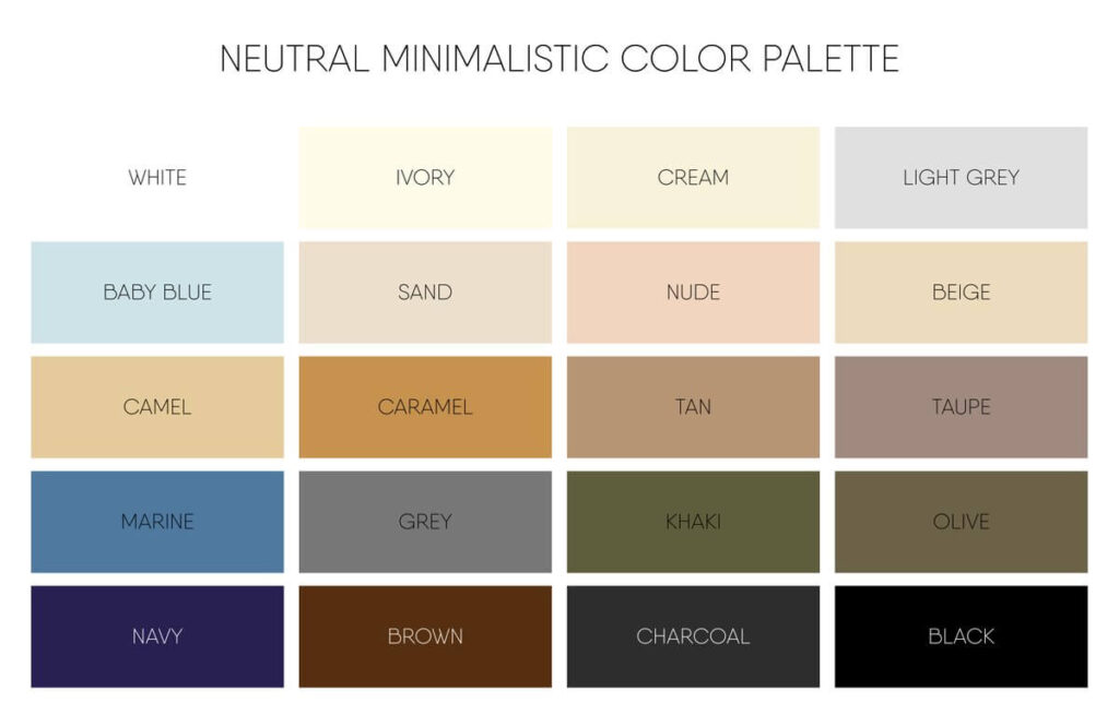 List of neutral color