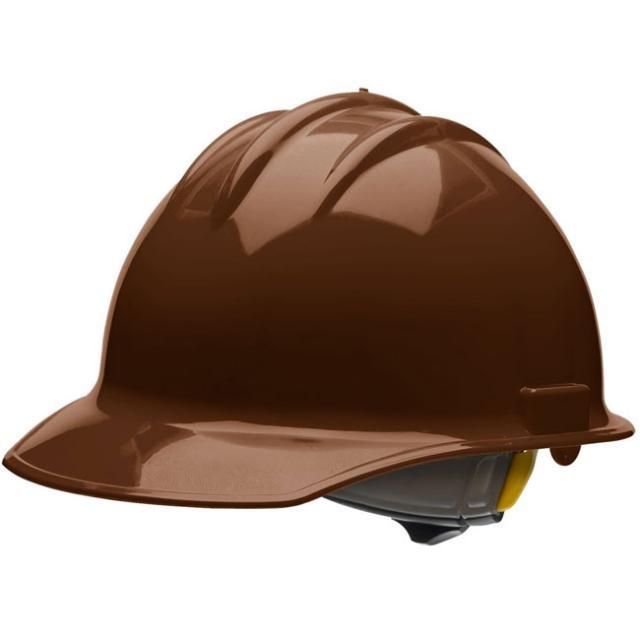 brown hard hat