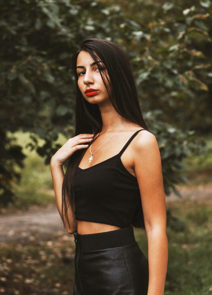 neutral color outfit: black