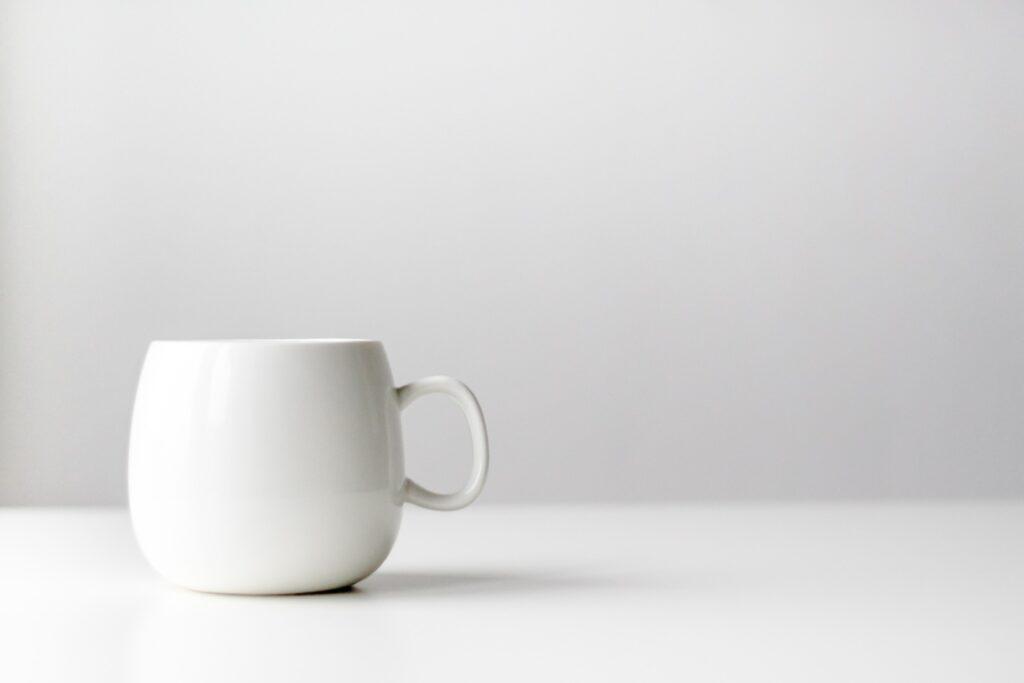 neutral white cup