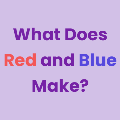 what does red and blue make
