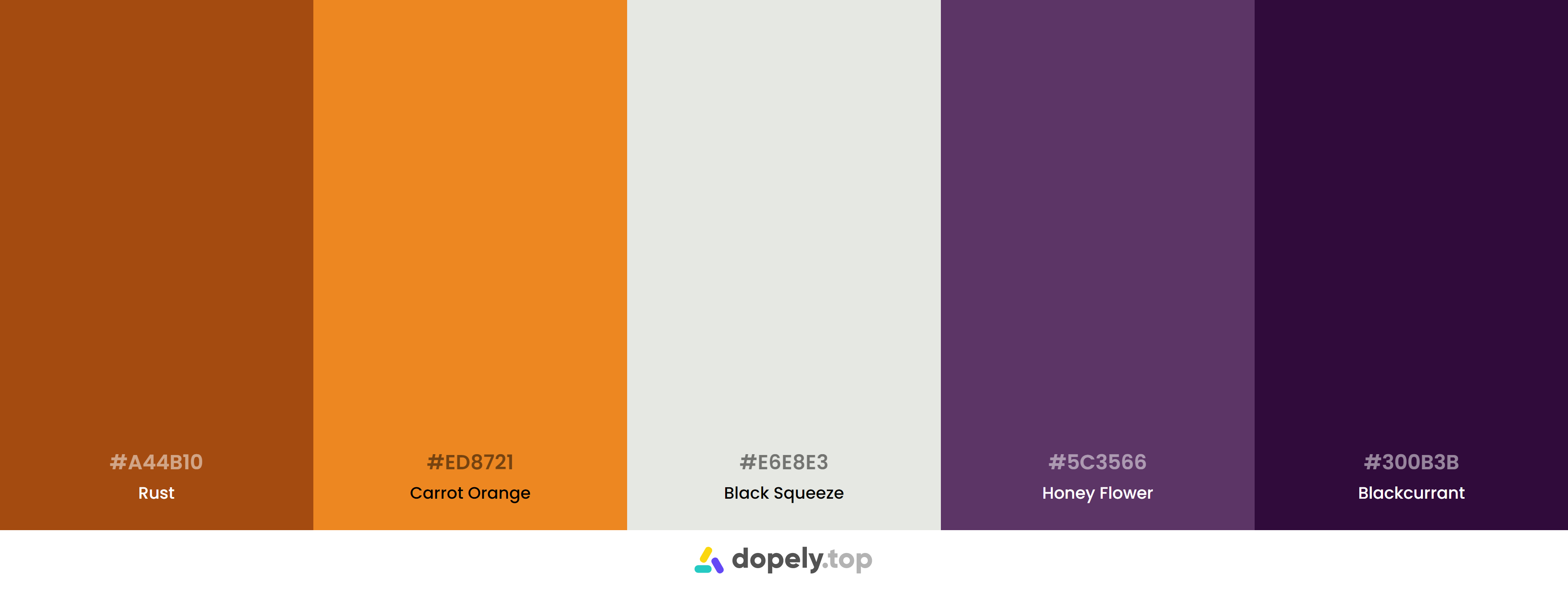 Orange Color Palette Inspirations with Names & hex Codes