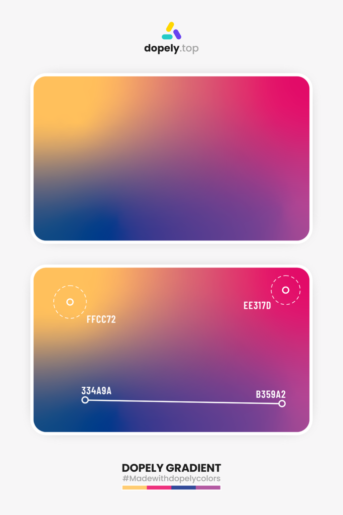Freeform gradient between 4 colors by dopely.top