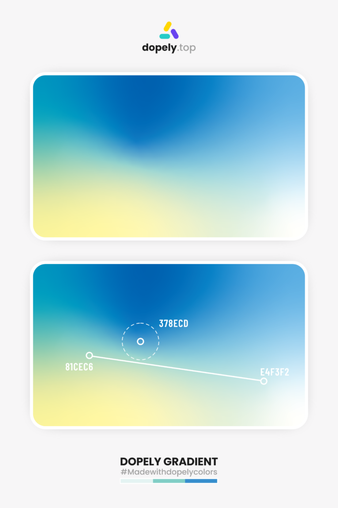 bright gradient inspiration by dopely colors