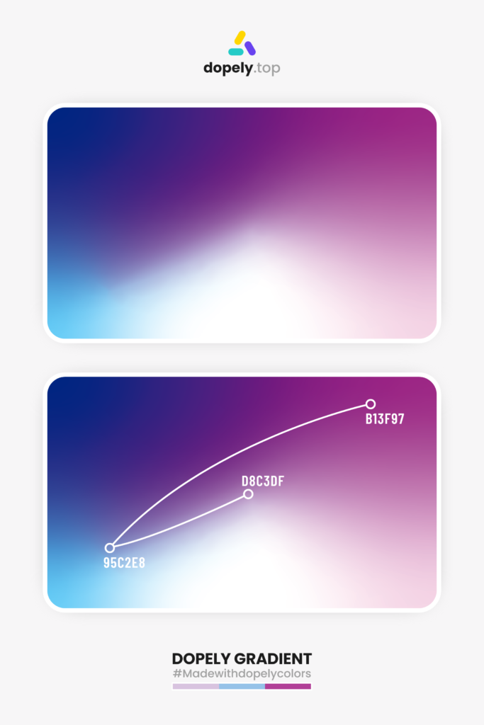 gradient inspiration with blue, white and purple by dopely colors