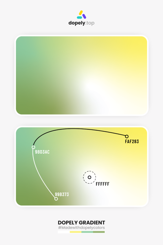 free form gradient inspiration with four colors by dopely colors