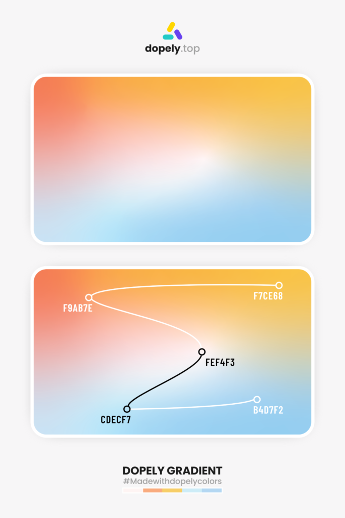 Color gradient idea with four colors by dopely colors