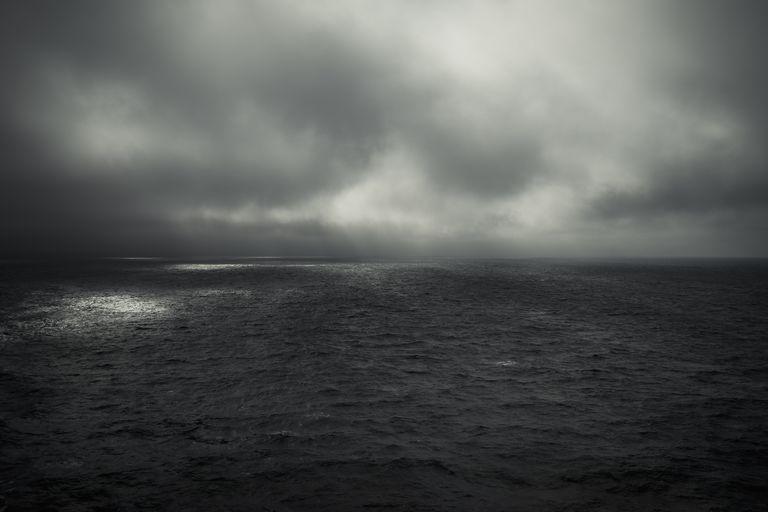 gray sky and sea