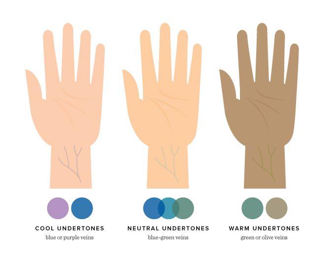 vein test undertone including cool undertones, neutral undertones, warm undertones