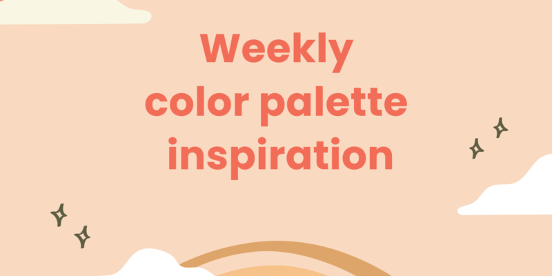 weekly color palette