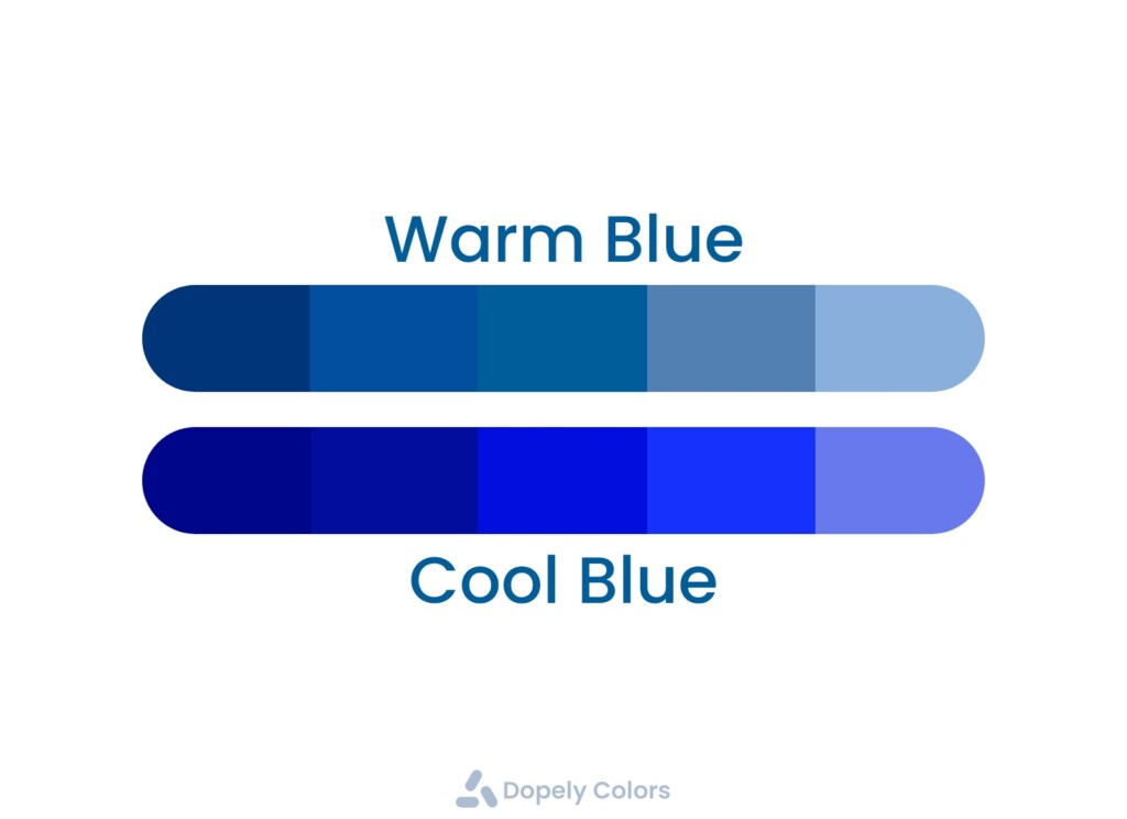 warm and cool blue guide